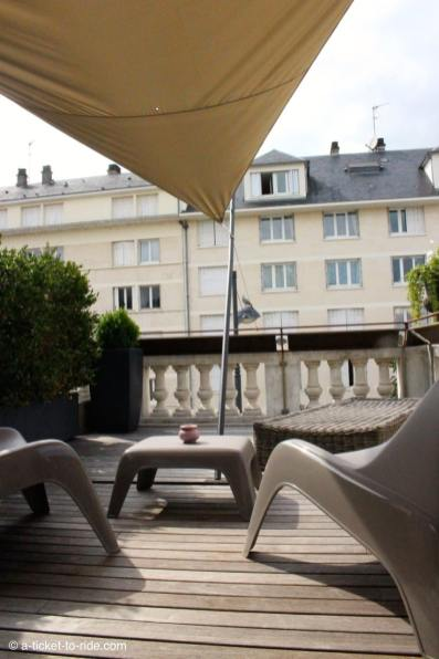 Bourges, terrasse Hotel Villa C