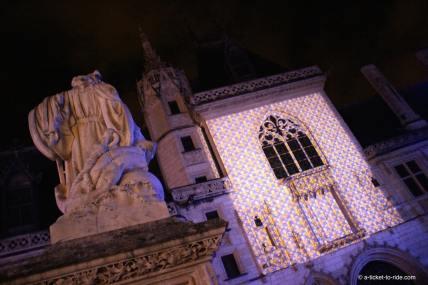 Bourges, Nuit lumière, palais Jacques Cœur