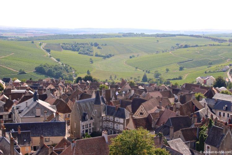 Sancerre, vue sur le village depuis la tour des Fiefs