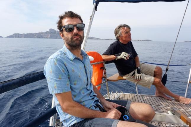 Marseille, Mathieu sur le voilier