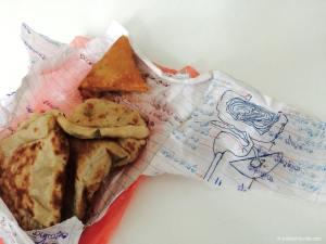 Sri Lanka, snacks dans feuilles de classe