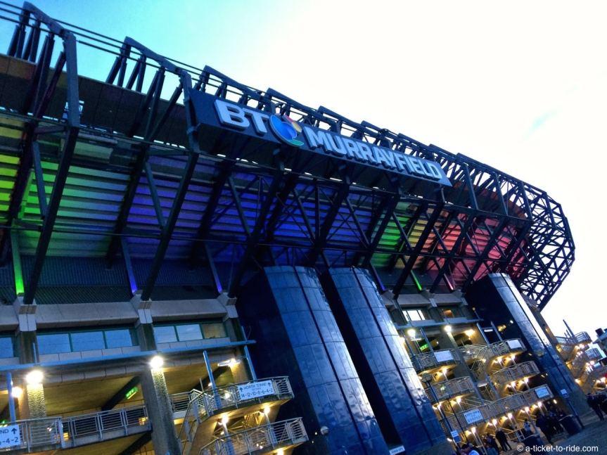Ecosse, Édimbourg, Murrayfield stadium