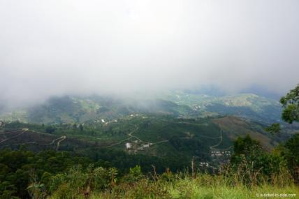 Sri Lanka, Haputale, Lipton seat, panorama, brume