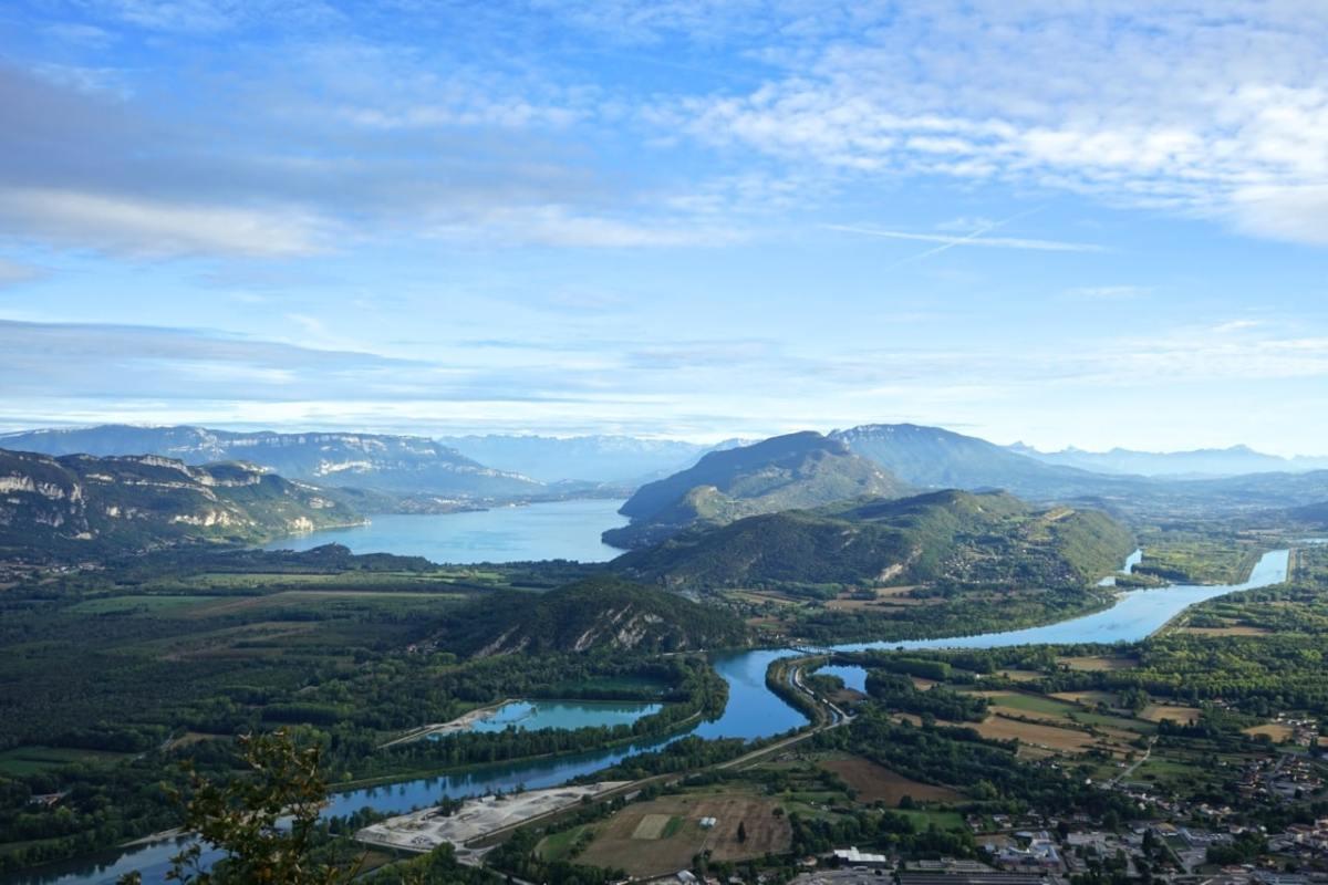 Ain, col du Grand Colombier, descente de Culoz