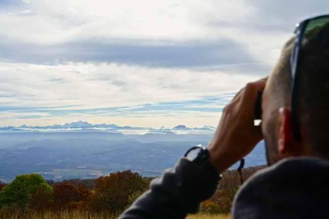 Ain, Plateau de Retord, vue sur les Alpes