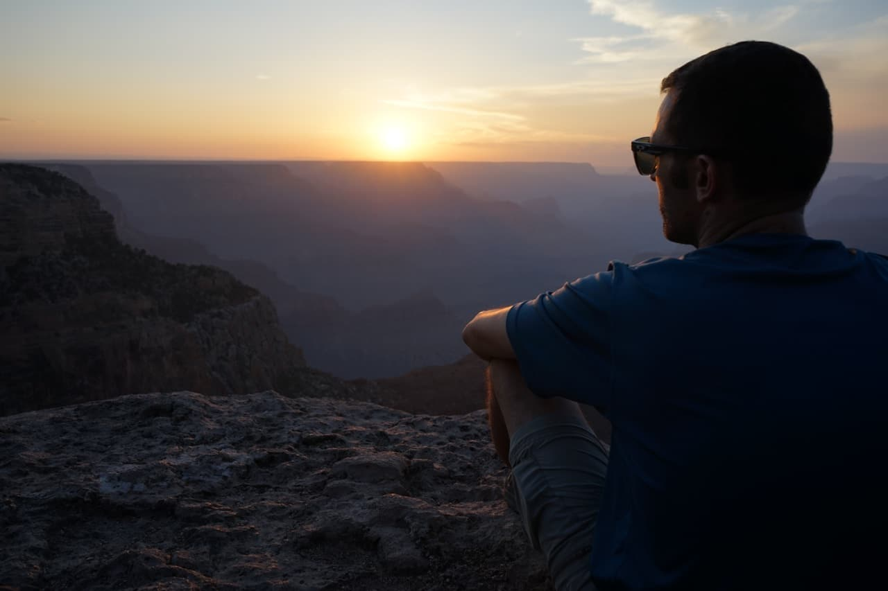 Grand canyon, Hopi point, coucher de soleil