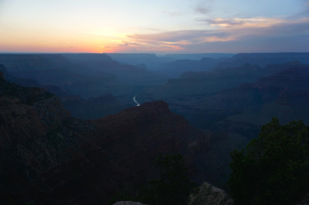 Grand canyon, Hopi point, coucher de soleil