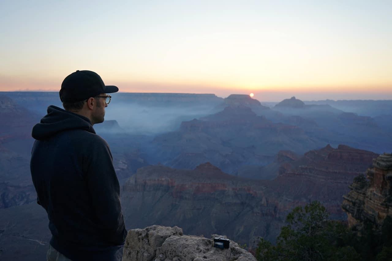 Grand canyon, Yaki point, lever de soleil