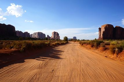 Monument valley, route sable