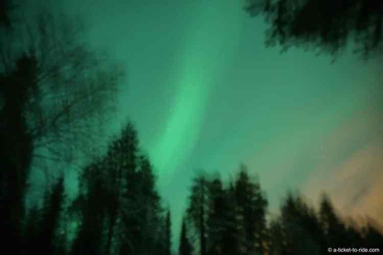 Laponie finlandaise, aurore boréale