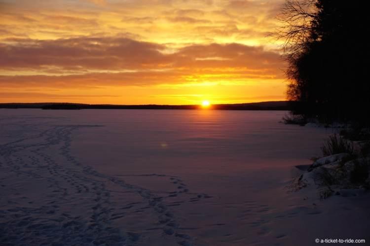Laponie finlandaise, coucher de soleil