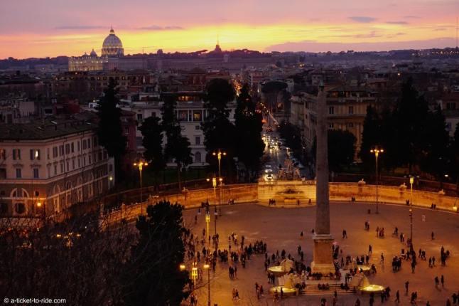 Italie, Rome, Piazza del popolo