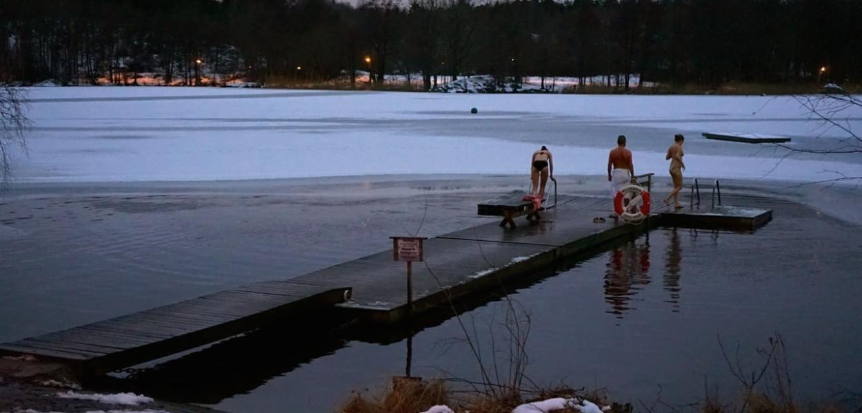 Stockholm, hellasgarden, lac gelé