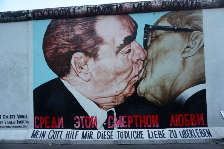 Berlin, East side Gallery, le baiser