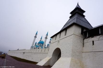 Russie, Kazan, mosquée et rempart