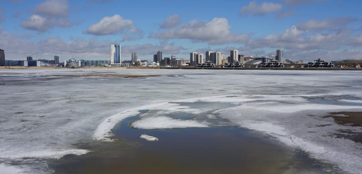 Russie, Kazan, rives de la Volga