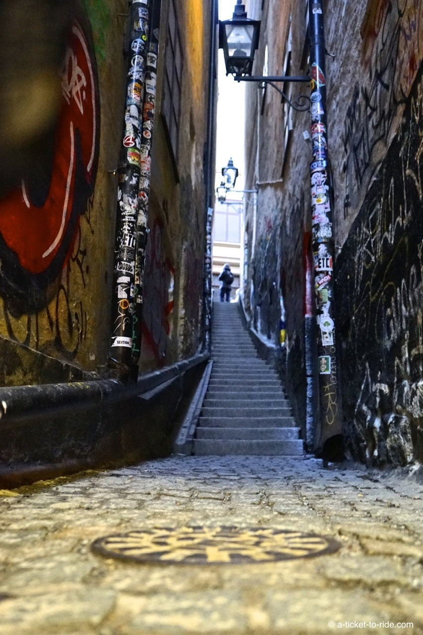 Stockholm, ruelle Marten Trotzigs Grand