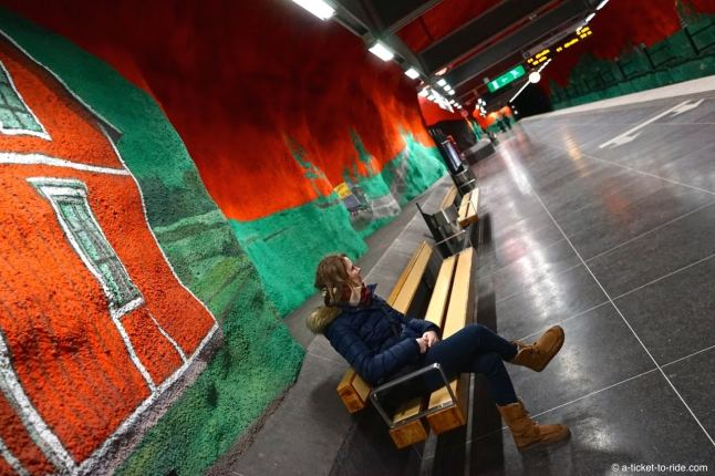 Stockholm, métro Solna Centrum