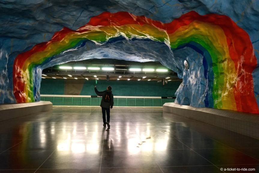 Stockholm, métro Stadion