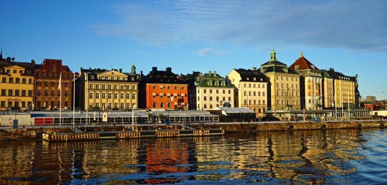 Stockholm, vue sur Gamla Stan depuis la croisière