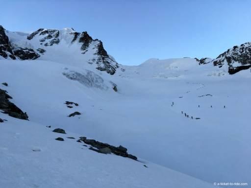 Neige sur le glacier, Grand Paradis