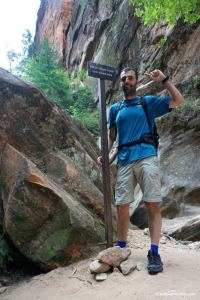 Zion national park, end of hidden canyon trail