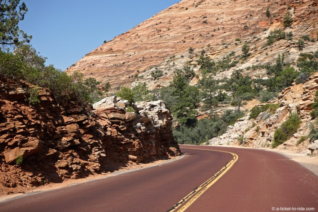 Zion national park, route rouge