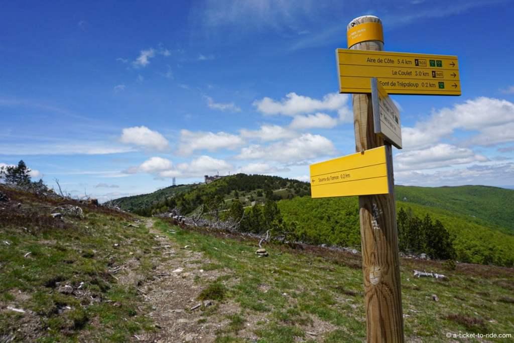 Panneaux randonnée Aigoual