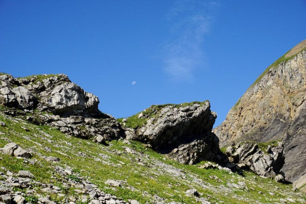Montagne et lune