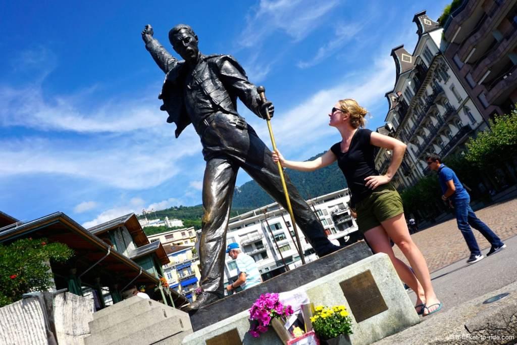 Montreux, statue Freddie Mercury