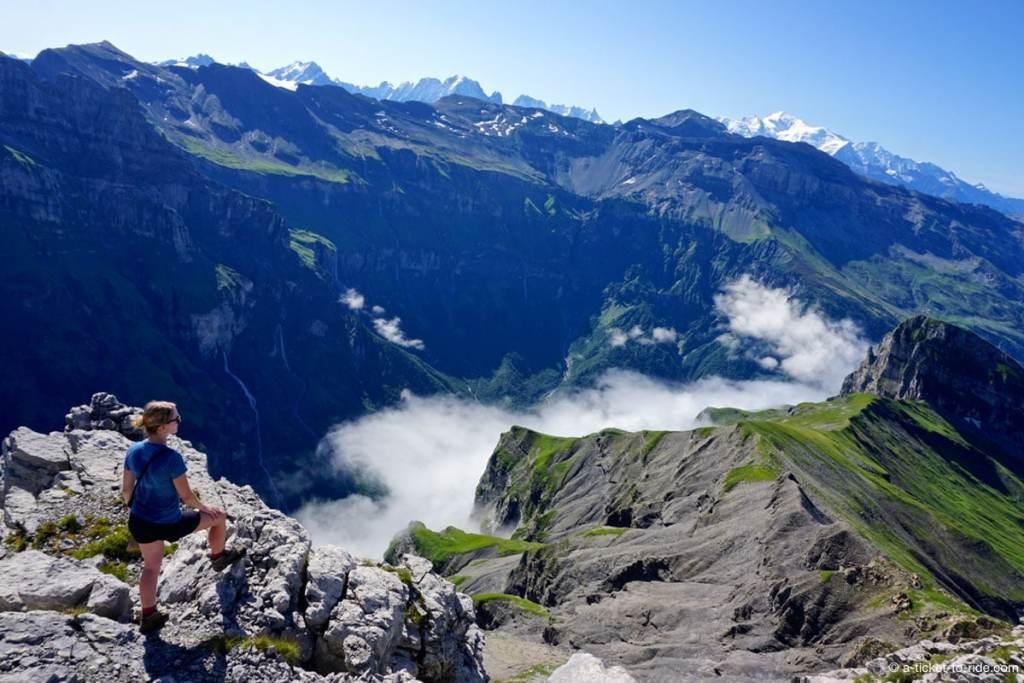 Panorama sur le Mont Blanc depuis la pointe de Bellegarde