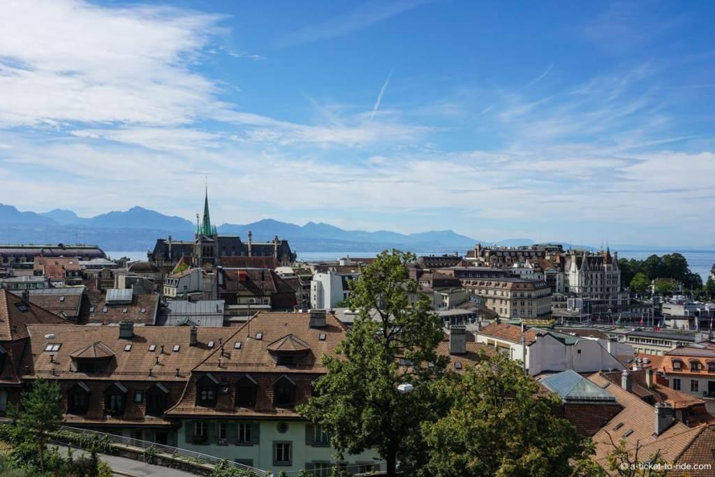 Lausanne, vue sur la ville