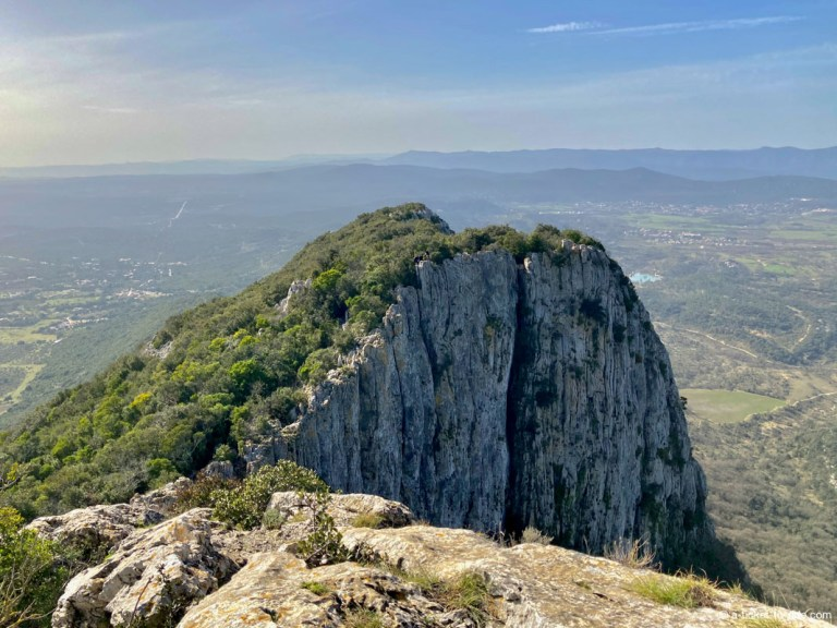 Panorama ouest depuis le Pic Saint-Loup
