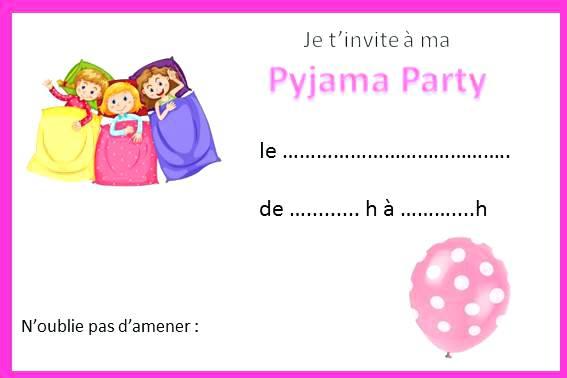 invitation pyjama soldes en image