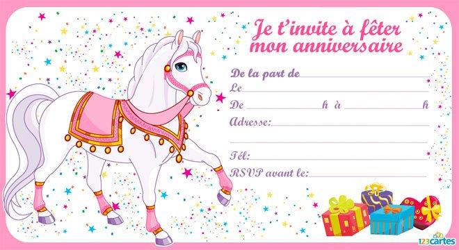 invitation soiree pyjama cheval