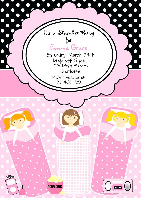 carte d invitation pour soiree pyjama a