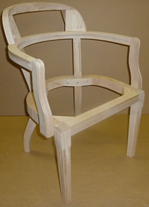 wooden chair frames for upholstery uk white tufted accent a1 furniture