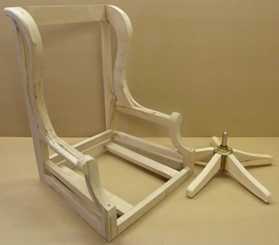wooden chair frames for upholstery uk bistro chairs dining room a1 furniture jr swivel desk frame