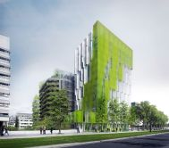 In Vivo in Paris, France Status: one of winning Reinventing.Paris competition proposals; to be built Programme: housing, microalgae farming incorporated in the facade structure, retail, workshop spaces, residence for researchers Architects: XTU Architects, MU Architecture Image courtesy of XTU Architects