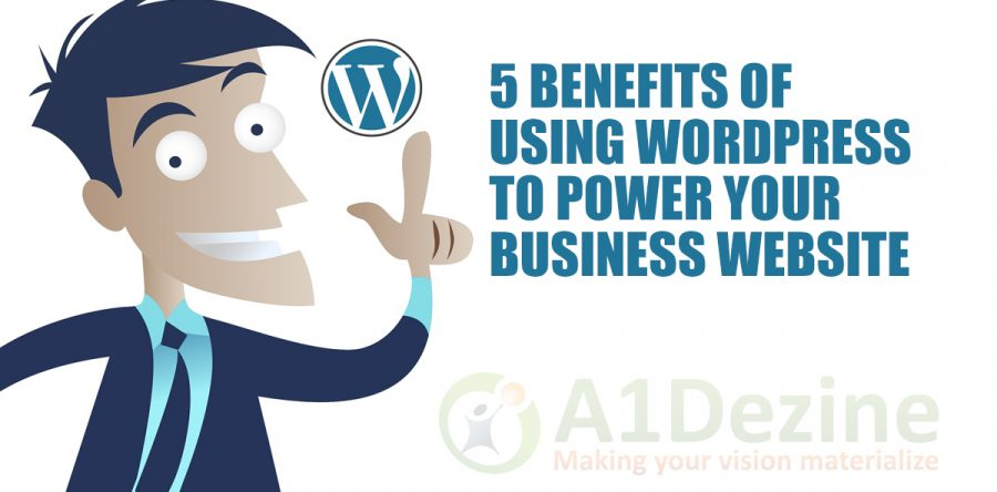 Benefits of Using WordPress web banner