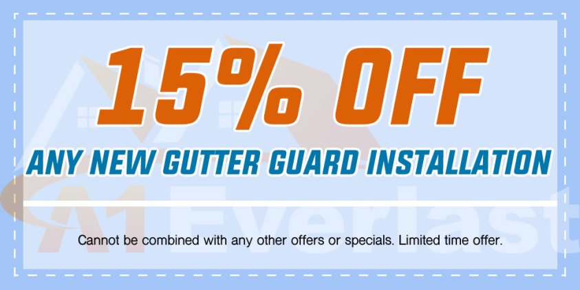 15% Off any New Gutter Guard Installation