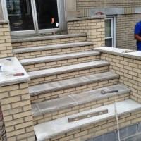 brick steps repair