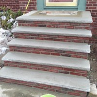 concrete and brick stairs installation