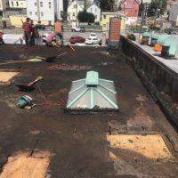 preparing a flat roof for repair