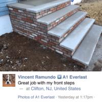new brick and concrete steps