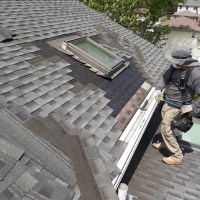 repairing a roof and skylight