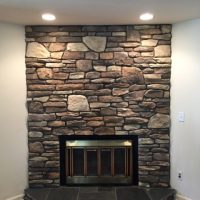 fireplace design out of stone