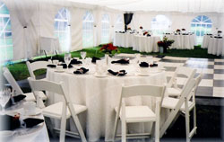 renting tables and chairs for wedding office chair set eau claire supplies tent rentals a 1 express rental center rent tents outdoor covers fine china