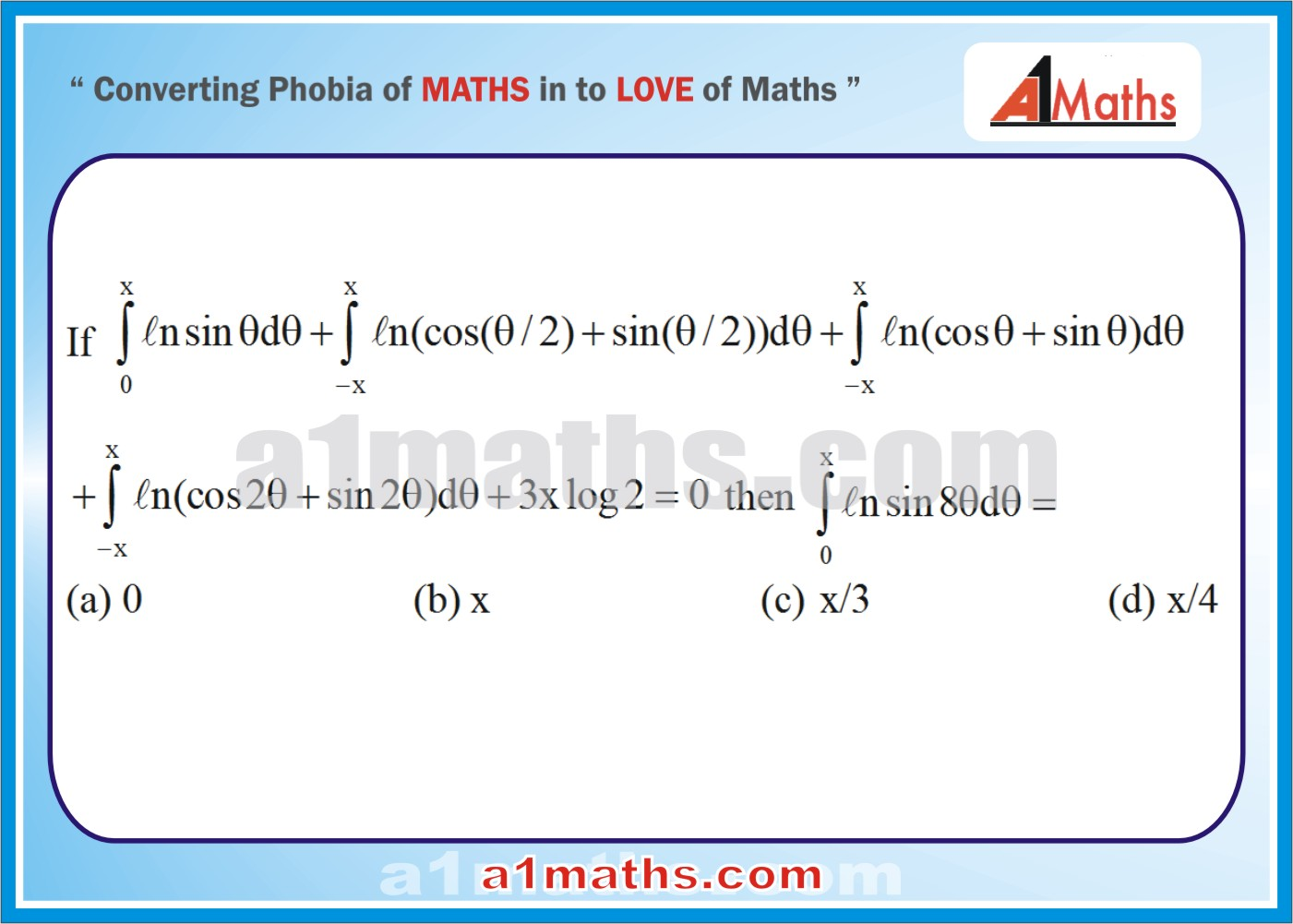 Definite Integral Problems And Solutions