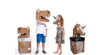 Cencosud Caja Navide;a para regalos , transforma en juguete